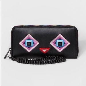 Mossimo Kisslock Wristlet Wallet In Black